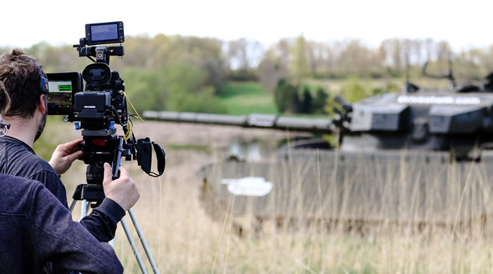 An experienced production team based in Minnesota is available to film custom tank driving events.