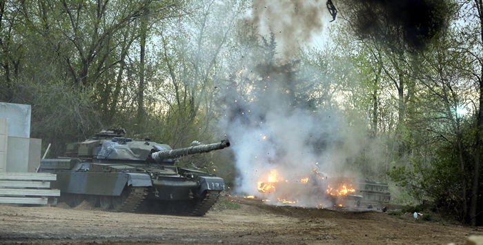 Incredible Adventures brings video games to life with simulated tank battles and explosions.