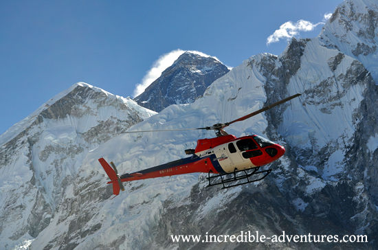 Helicopter at Skydive Everest