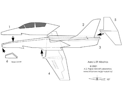 How to Manufacture a Paper Model Russian L-39 Albatross ...