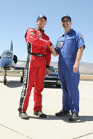 Carl Edwards and Brian Wright fly the L-39 with Hollywood Top Gun