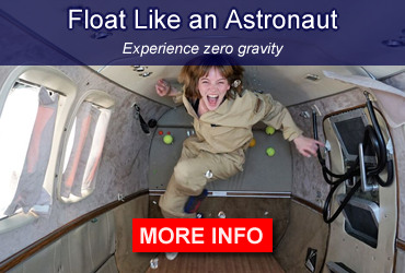 Float like an astronaut and experience zero gravity