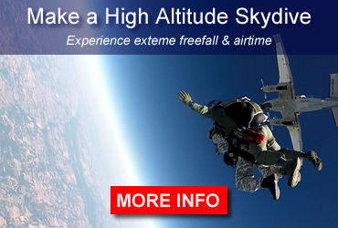 Make a high altitude skydive and experience extreme freefall & airtime