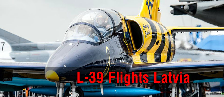 Fly the L-39C Albatros jet warbird with the Baltic Bees Jet Team, Riga, Latvia