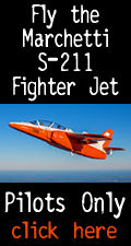 Fly the Marchetti S211 fighter jet. Pilots only. Click here.