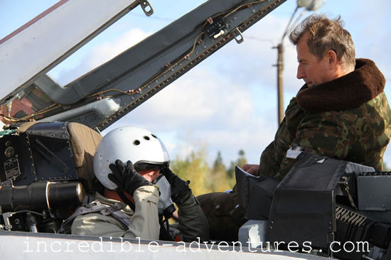 Scott flew a MiG-29 in Russia with Incredible Adventures and pilot Yuri Polyakov.
