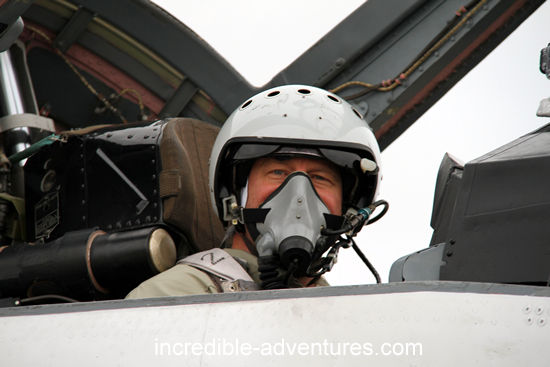 Michael flew a MiG-29 at SOKOL Airbase,  Russia with Incredible Adventures.