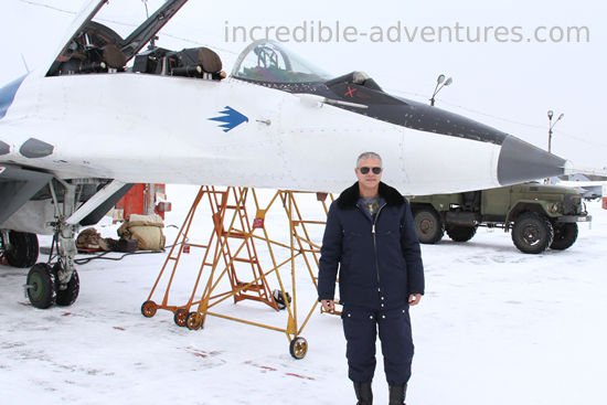 Ignacio flew a MiG-29 at SOKOL Airbase,  Russia with Incredible Adventures.