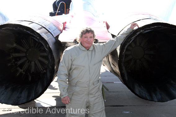 Nigel flew a MiG-29 at SOKOL Airbase, Russia with Incredible Adventures.