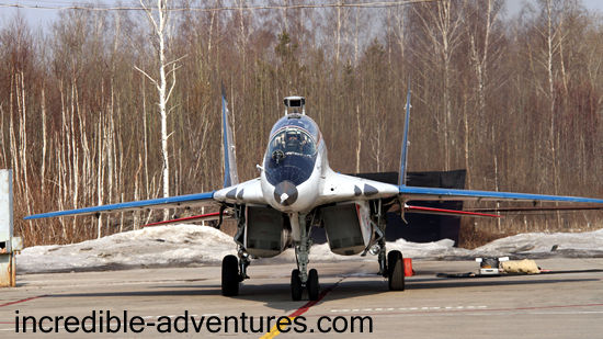 Paul flew a MiG-29 at SOKOL Airbase, Russia with Incredible Adventures.