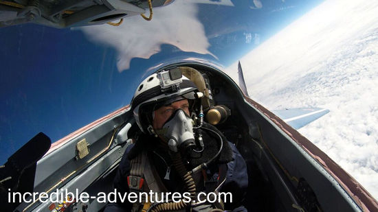 Bowen flew a MiG-29 at SOKOL Airbase, Russia with Incredible Adventures.