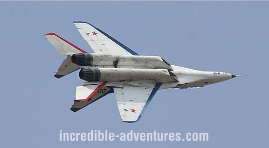 Jesse R flew a MiG-29 at SOKOL Airbase, Russia with Incredible Adventures.