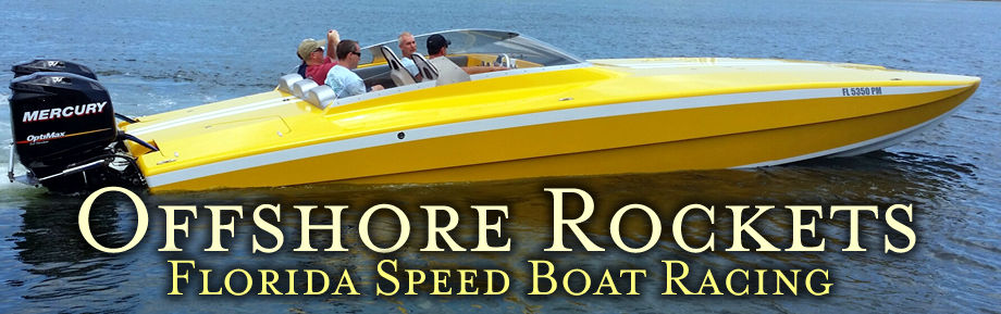 Offshore Rockets high performance speedboat racing in Florida. Learn skills for high speed boat racing.