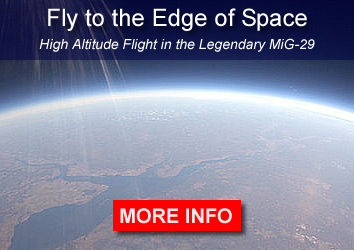 Fly to the Edge of Space: high altitude flight in the legendary MiG-29