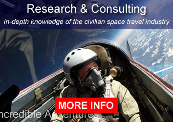 Research & Consulting: We have in-depth knowledge and experience in the civilian space travel industry