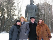 Jane Reifert with Russian Staff