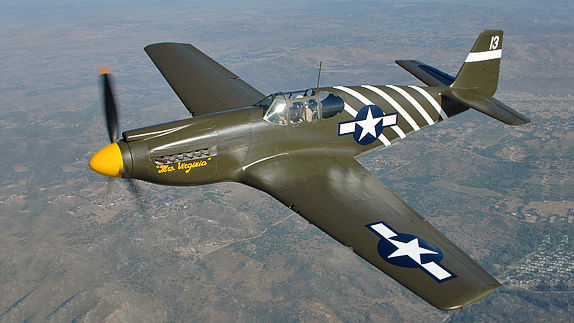 how to fly a p51 mustang