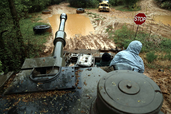 Drive a tank - storms and mud won't stop a tank