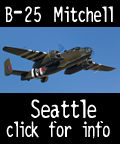 Fly the B-25 Bomber over Seattle Washington