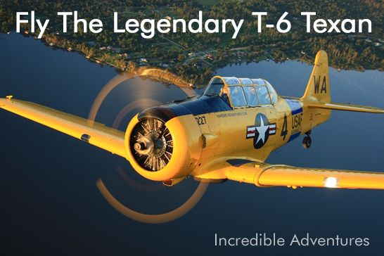Fly the classic vintage T-6 Texan, aka Harvard or SNJ. What a ride! Plane rides in Kissimmee, Florica