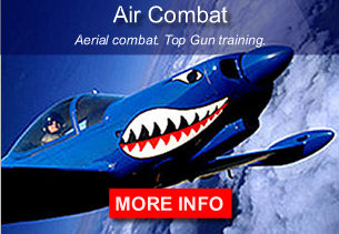 Air Combat USA aerial combat offered year round from coast to coast. Fly a Marchetti SF260 sitting side by side with an experienced pilot/instructor as you thrill to the challenge of an aerobatic dogfight adventure.